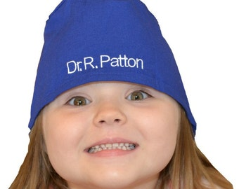 Kids Scrubs Caps Personalized for little Doctors and Nurses