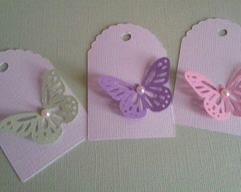 Butterfly Garden Birthday Favor Tag