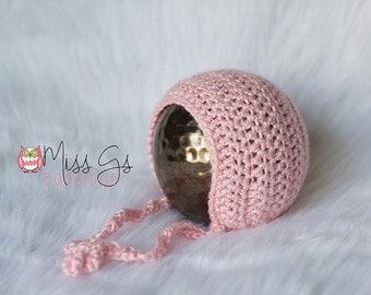 Light Pink Newborn Bonnet