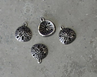 2 ea   sand dollar charm/ pendant #126