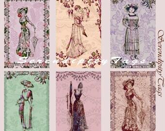 6 Victorian ladies.