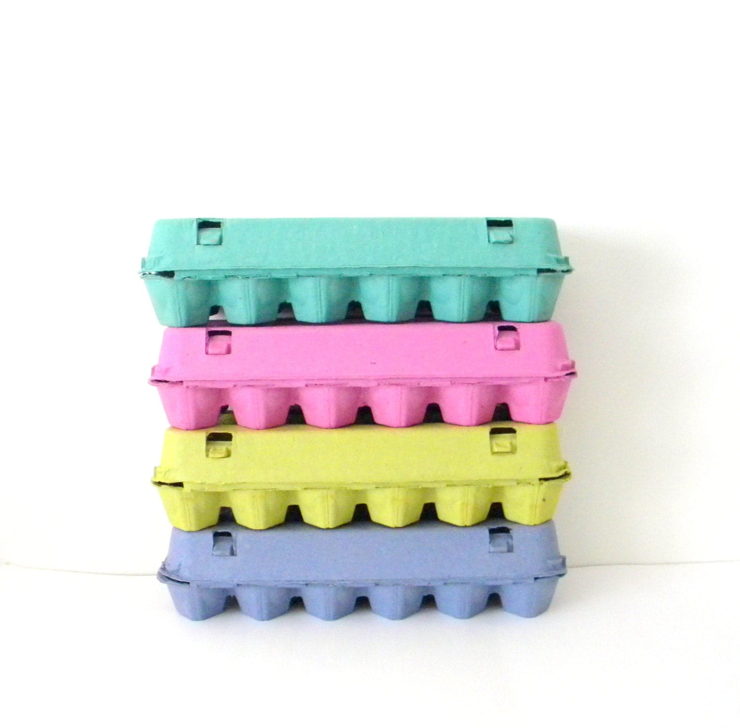 9 colored paper pulp easter egg cartons choose your colors for How to make paper egg trays