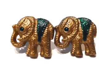 """Elephant Plug Earrings (0g to 1/2"""") 0g 00g 7/16"""" 1/2"""""""