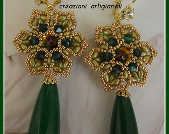 Baroque Flower Earrings-Baroque flower earrings