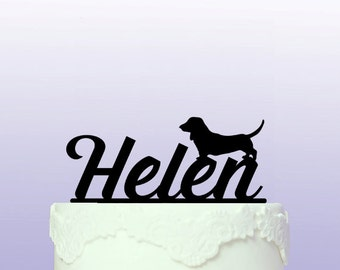 Dachshund Personalised Cake Topper