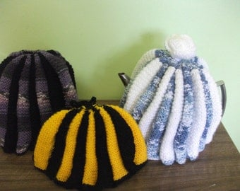 Hand knit Tea Cosy and Coffee plunger