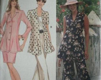 Misses Miss Petite Pants, Skirt and Top Size 18-20-22 Simplicity Pattern 8989 Vintage MINT UNCUT Pattern Dated 1994