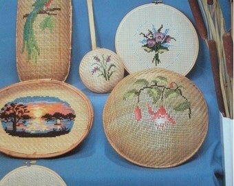 Creative Basket Stitchery by Sue Parther for ShariAne Designs #B262 Vintage 1983 Booklet in Lovely Condition