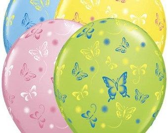 Butterfly Balloons, Easter Balloons, Mother's Day Balloons, Wedding Balloons, Pastel Balloons, Shower Balloons, Garden Balloons