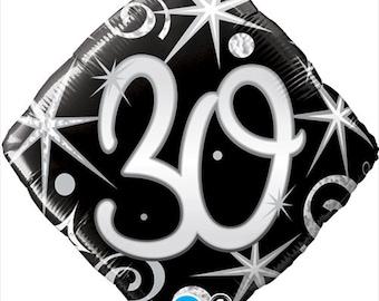 30th Balloon, 30 Birthday Balloon, 30 Anniversary Balloon, 30th Year Party