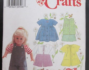 "Uncut Simplicity Crafts ELAINE HEIGL 18"" (A.G. and others) Doll Clothers PATTERN #7688  c.1997"