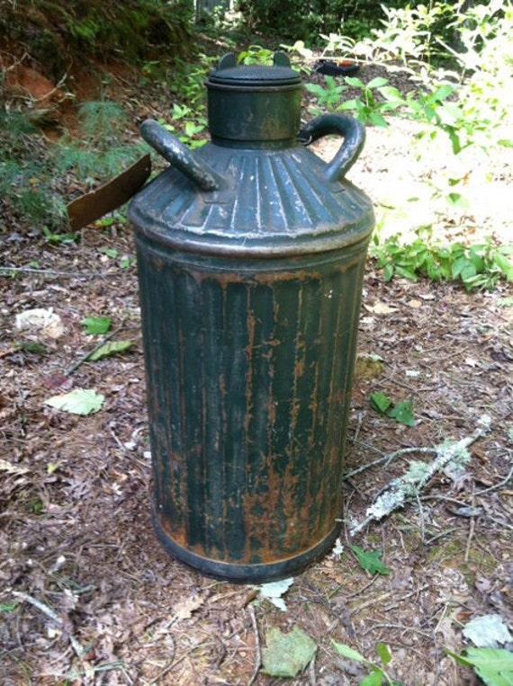 Vintage 1920 S 10 Gallon Gas Oil Can Davis Welding Mfg