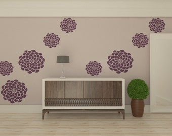 Reusable Wall Stencil - Flower Stencil For Wall Decoration - Floral Motive Stencil
