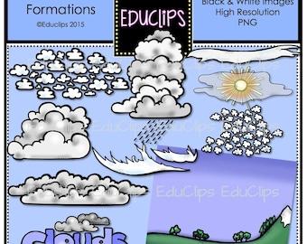 Cloud Formations Clip Art Bundle