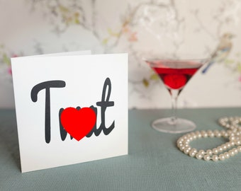 Funny card ***T**t*** valentines day, rude card for friend, husband, bestman