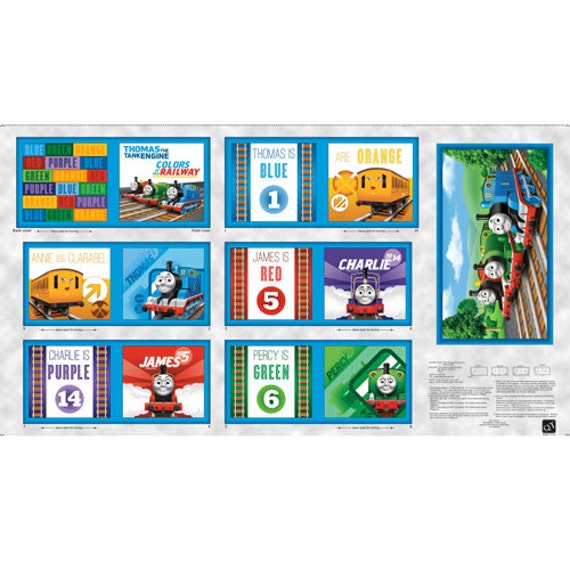 Thomas The Train Soft Book Panel By Quilting Treasures