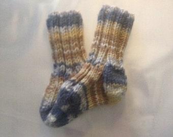 Adorable Hand Knit Baby Socks