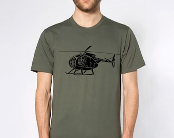 KillerBeeMoto: Hughes OH-6A Cayuse Helicopter Short & Long Sleeve Shirt