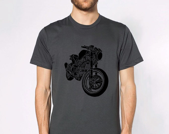 KillerBeeMoto: Limited Release Italian Cafe Racer Side View Short And Long Sleeve Motorcycle Shirts