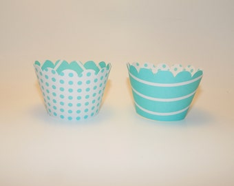 Polka Dots & Stripes Cupcake Wrappers