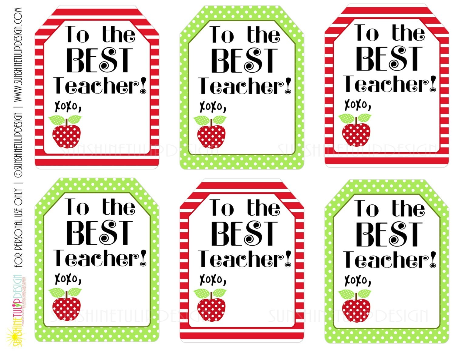 Exceptional image in printable teacher gift tags
