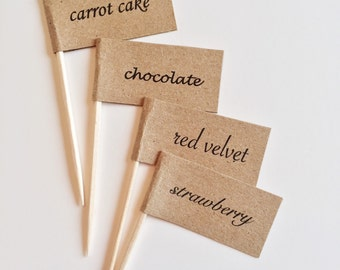 Custom CAKE FLAVOR Toppers (10ct)