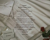 "Graduation Gift ""As Your Future Begins"" Personalized Poem for Daughter Son Niece Nephew Grandchild ""Class of 2015"""