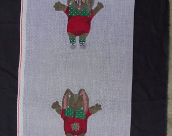 TS Needlepoint 14 count Canvas Bunny Rabbit  FREE Shipping USA