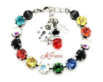 UTOPIA 8mm Crystal Chaton Bracelet Made With Swarovski Elements *Pick Your Finish *Karnas Design Studio *Free Shipping*
