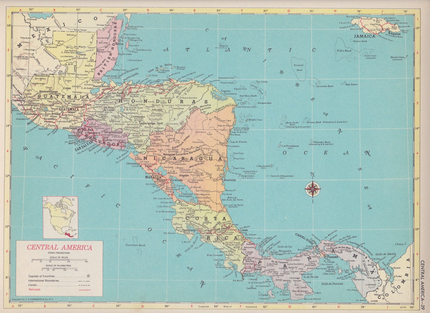 Off Estate Sale Vintage Map Art Map Of Western Canada S - Map of usa for sale