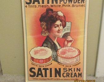 Memorabilia Poster Satin skin powder  1903
