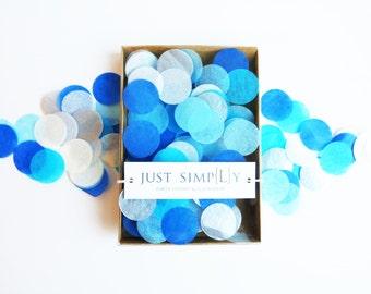 "Tissue Paper 1"" Party Confetti - Blue Mix"