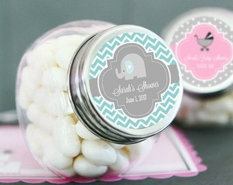 Baby Shower Jars Personalized Baby Shower Favor Jar Personalized Candy Jar Baby Shower Candy Buffet Jar Baby Shower Favors (EB2029Z) 12| pcs