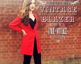 Vintage Red Jacket/Blazer size 10