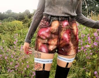 Burnt Sun Galaxy Print Shorts
