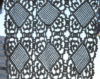 Crochet doily, handmade crochet, french curtains, french doilies, french placemat, crochet placemat, small curtain