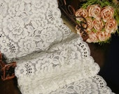 One yard Beautiful vintage style Cream  lace,Cute cream lace,Accessories,Stretch Cream white lace,
