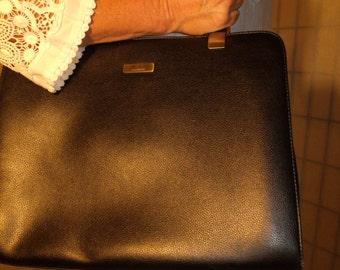 90's Liz Claiborne Organizer/Travel Black Purse/Shoulder/Handbag/Tote Vintage