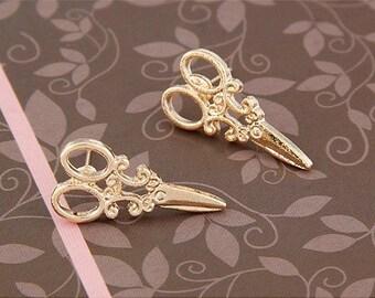 Golden Scissor Earrings