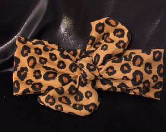Leopard Knot Headband-Little Girl Headband-knot headband-leopard-newborn-infant-toddler