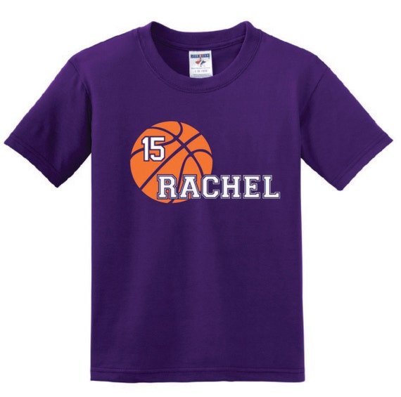 Personalized Basketball T Shirt Youth Boy Girl Shirt With