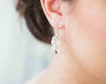 Bridal earrings, baroque wedding jewelry