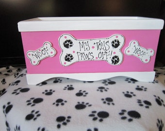 FREE SHIPPING! Dog,Puppy, WoodToy Box, Gift,Personalize,Only ships within the U.S. Excluding Alaska and Hawaii