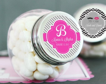 Personalized Wedding Favors • Theme Candy Jars (set of 24) •