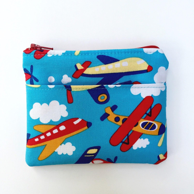 Kids Wallet Airplanes/Boys Wallet Planes/Children's