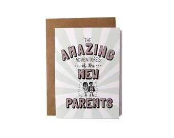 Amazing Adventures of the New Parents Card
