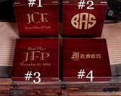 Custom Personalized Laser Engraved Man Cave Design Cigar Humidor - Personalized Cigar Box Groomsmen Best Man gift for Him