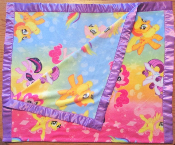 My Little Pony fleece toddler blanket with satin edge