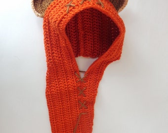Ewok  Baby Hat or Hood Costume From Star Wars For Girl Newborn to Adult Photo Prop Baby Halloween Wig / Cosplay Wig