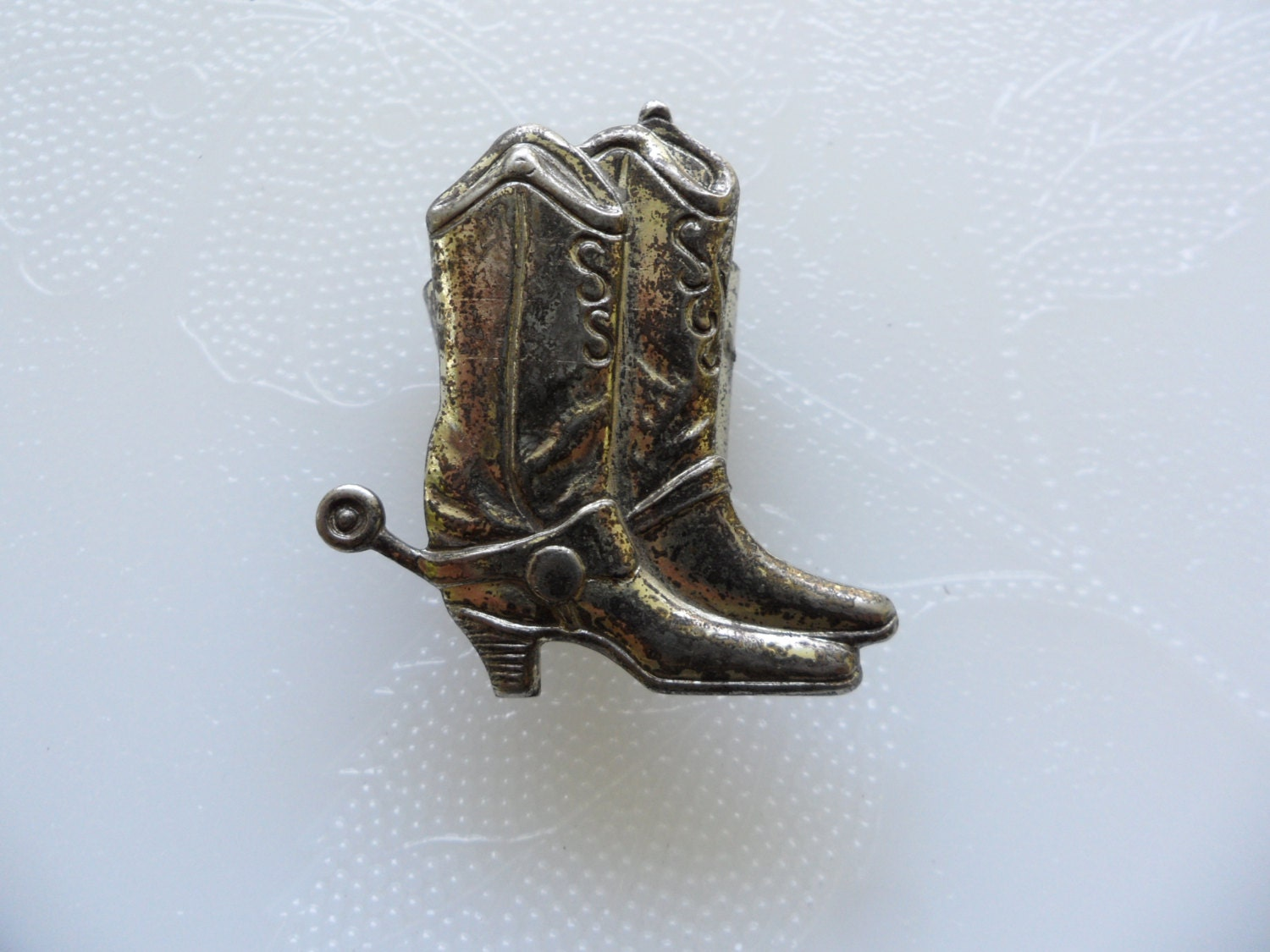 vintage cowboy boot jewelry scarf ring country western jewelry
